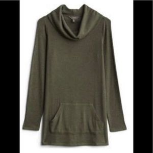 Mix by 41 Hawthorn Hedy Ribbed Tunic Top Green L